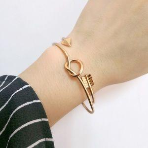 Jewelry - Boho Gold Arrow & Love Knot Bangle Cuff Bracelet